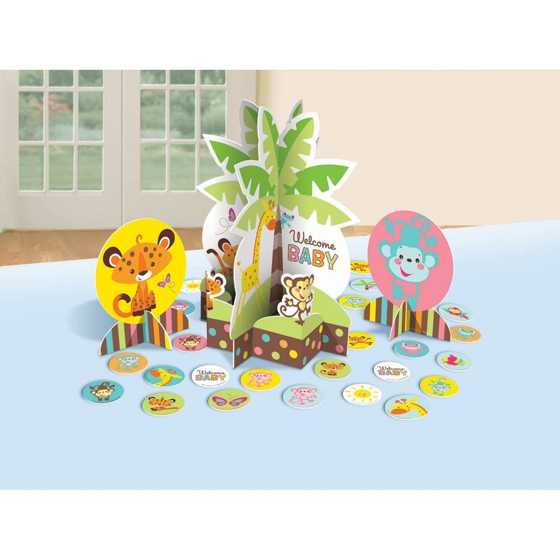 Fisher Price Table Decorating Kit Baby Shower Monkey Jungle