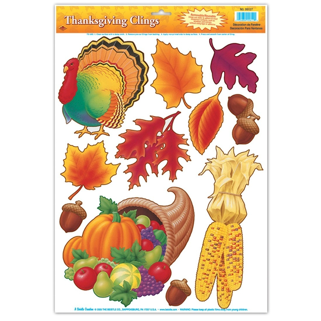 Thanksgiving Clings Party Accessory