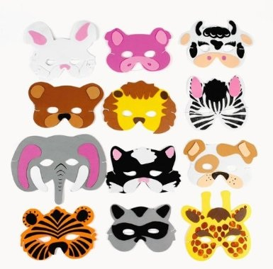 Kids Foam Animal Face Masks