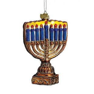Glass Menorah Ornament