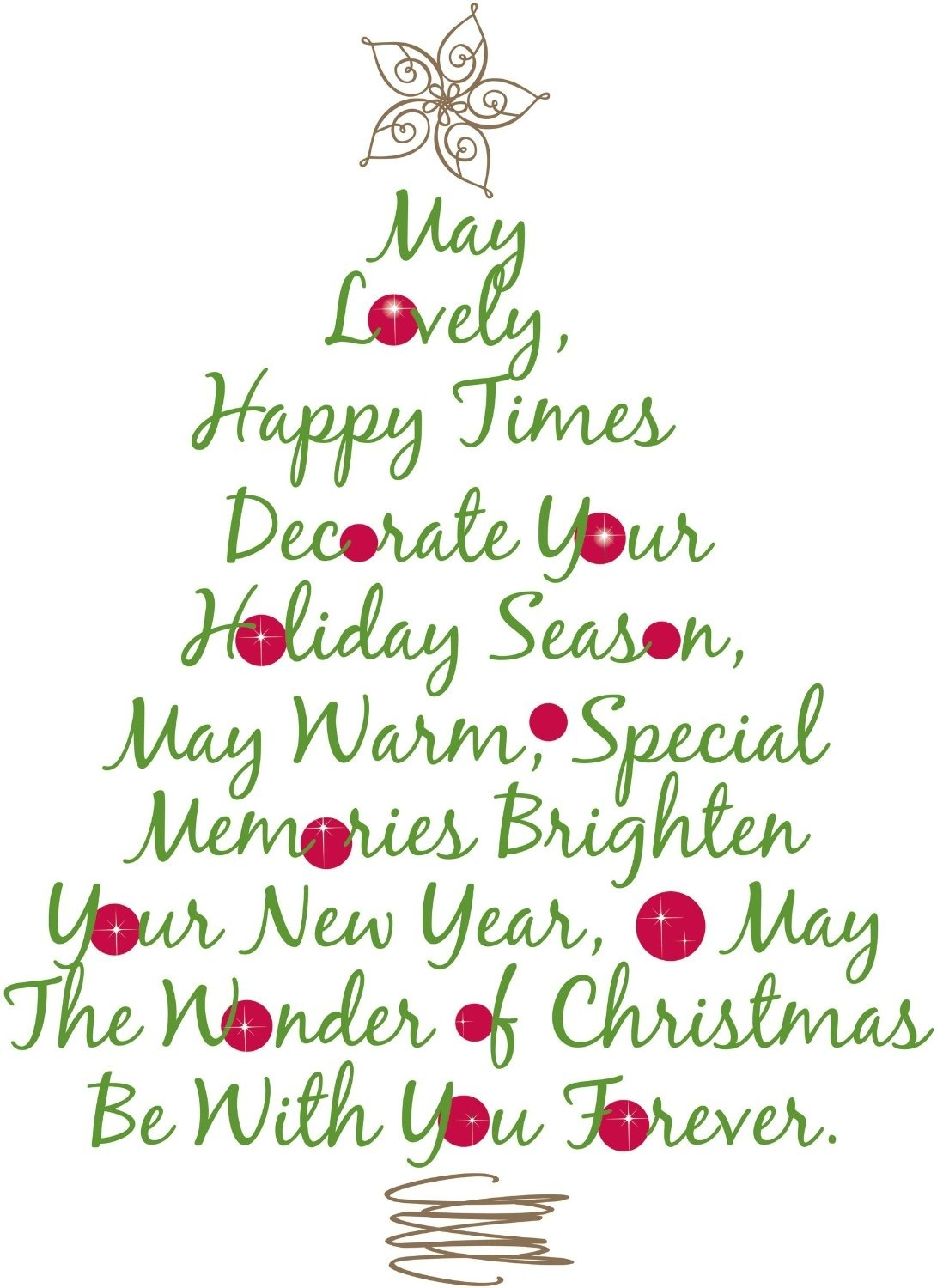Christmas Tree Quote Giant Wall Decor