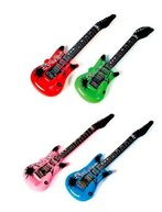 12-Pack Inflatable Rock Star Electric Guitar