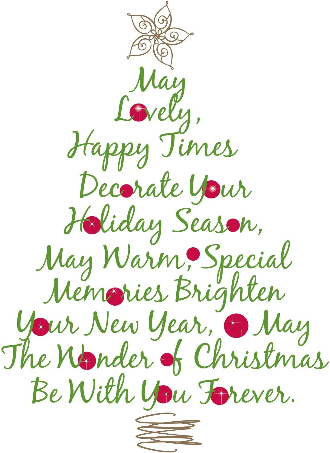 Christmas Tree Quote Peel & Stick Giant Wall Decal