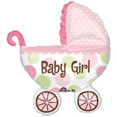 Girl Baby Shower Buggy Balloon