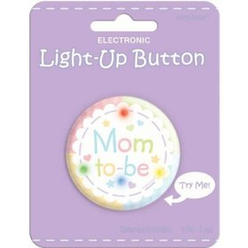 Mom to Be Light Up Button