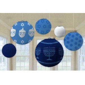 Hanukkah Hanging Swirl Decorations