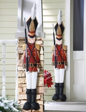 Metal Holiday Tin Soldier Wall Decoration