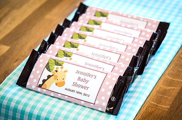 DIY Baby Shower Series: Flyer Candy Bar Wrappers