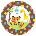 Dessert Plates Baby Shower Monkey Jungle Party